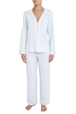 Eberjey: Gisele Long Sleeve, Pant set - Water Blue
