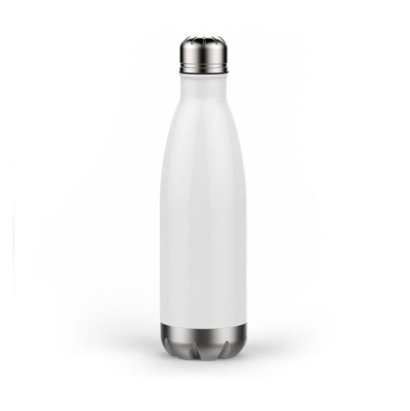 Personalized 17 oz Double Wall Vacuum Insulated Water Bottle - White