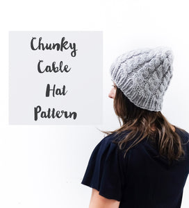 Chunky Cable Hat Knitting Pattern – La Reserve Design 6f0594d807a