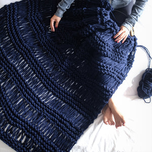 Bohemian Blanket Knitting Pattern