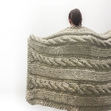 Chunky Cable Blanket Knitting Pattern