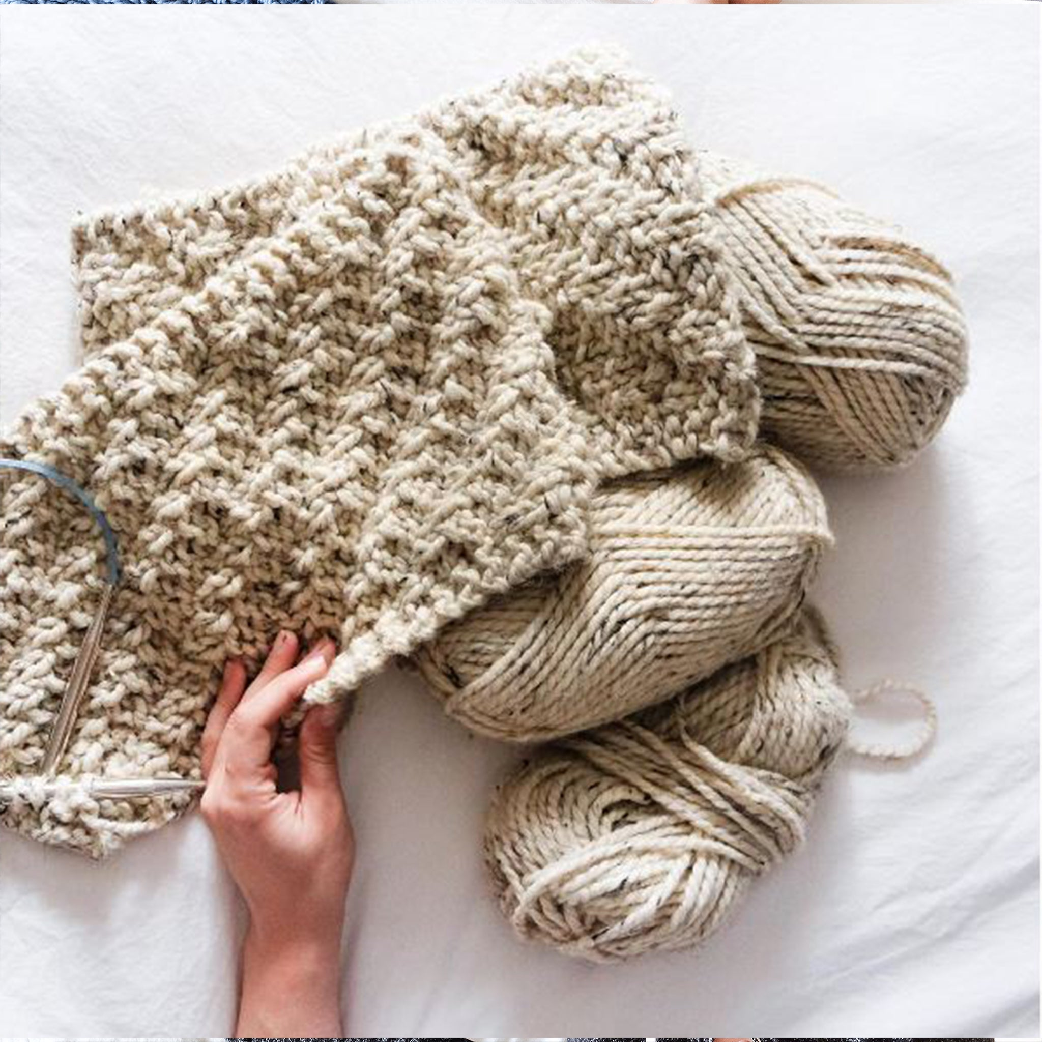 Chunky Textured Scarf Knitting Pattern – La Reserve Design