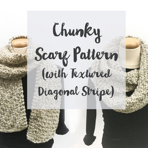 Chunky Textured Scarf Knitting Pattern