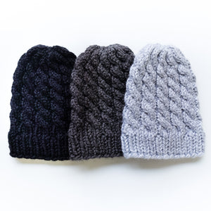 Chunky Cable Hat Knitting Pattern