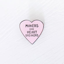 Hard Enamel maker Pin: Heart Breakers
