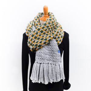 Colourful Textured Scarf Knitting Pattern
