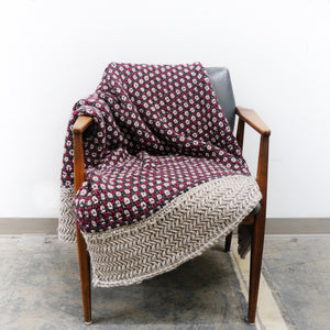 Multi-Strand Colourful Knit Chunky Blanket Pattern