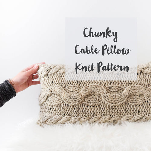 Chunky Cable Pillow Knitting Pattern