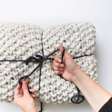 Chunky Seed Texture Blanket Knitting Pattern