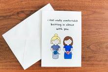 Digital Download: Silent Knitting Fiber Friend Card