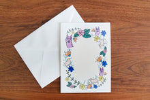 Digital Download: Alpaca Floral Wreath Card