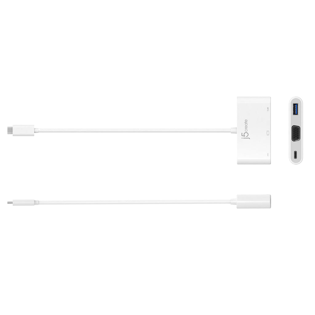 JCA378 USB™ Type-C to VGA & USB™ 3.0 with Power Delivery