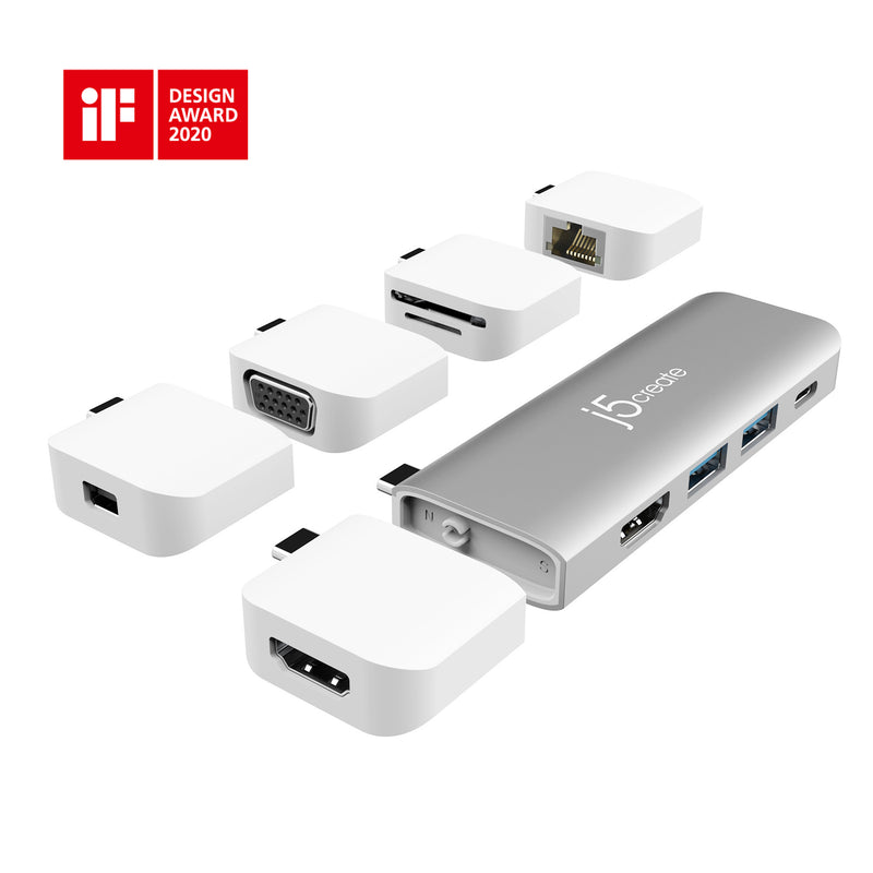 JCH411 USB 3.1 Type-C 3-Port HUB with VGA