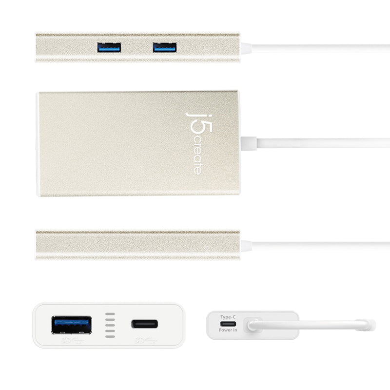 JCH346 USB Type-C 4-Port HUB