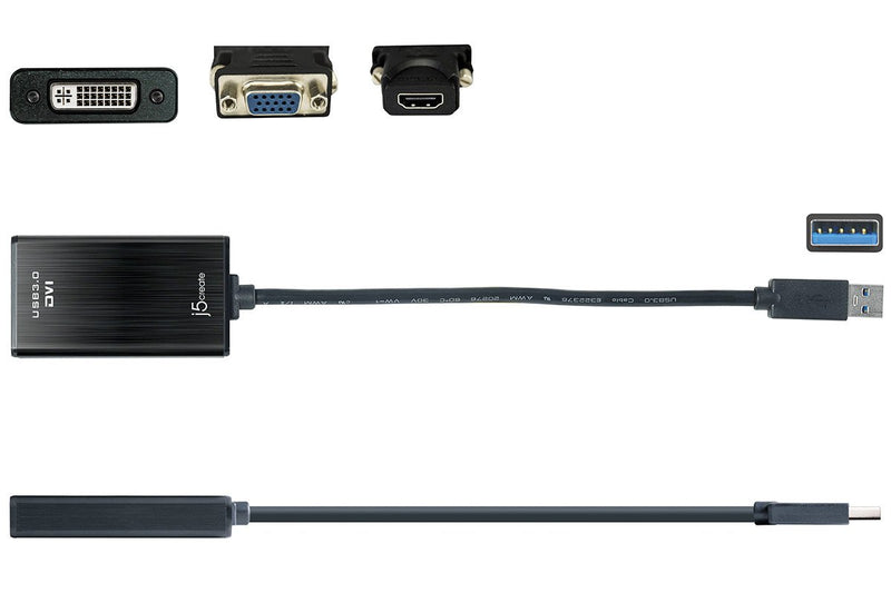 JUA330U USB<sup>™</sup> 3.0 DVI Display Adapter with VGA and HDMI<sup>™</sup> Adapters