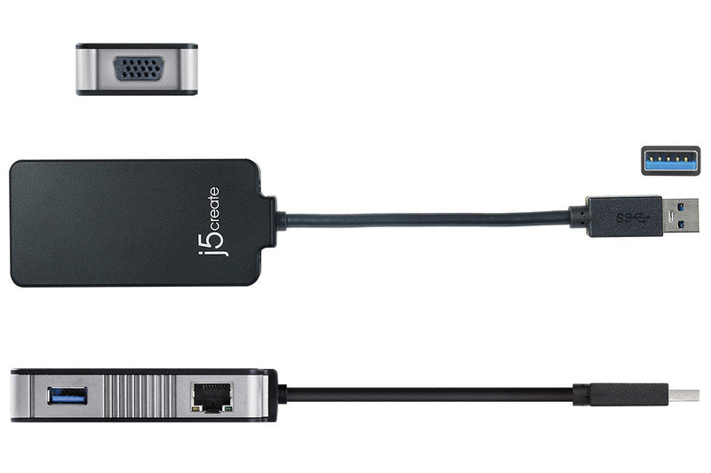 JUA370 USB 3.0 Multi-Adapter VGA & Gigabit Ethernet