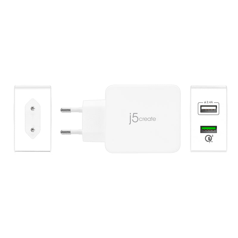 JUP20 2-Port USB QC 3.0 Charger