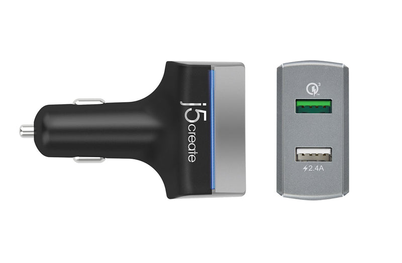 JUPV20 2-Port USB<sup>™</sup> QC 3.0 Car Charger