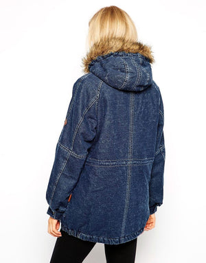 Fur-Lined Denim Jacket