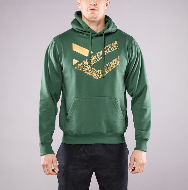 Sudadera Full Gold color Verde Forest para Hombre