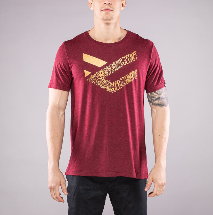 Camiseta Full Gold color Burgundy para Hombre