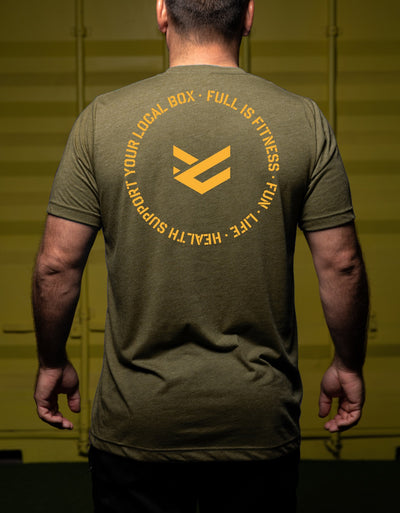 Camiseta Support Your Local Box para hombres color verde militar - Preventa