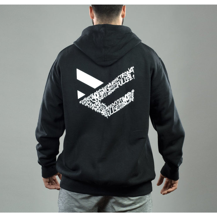 Sudadera negra Full Motivation Zip hombre