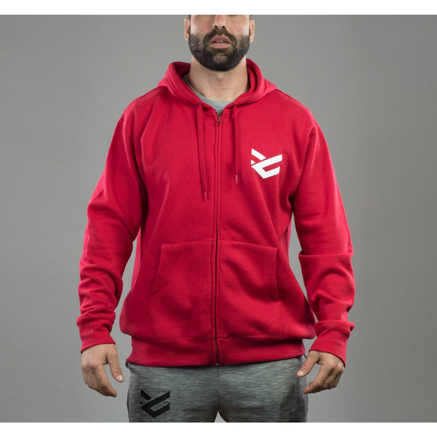 Sudadera roja para hombre Full Motivation Zip