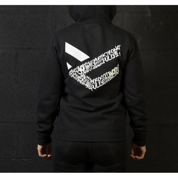Sudadera negra mujer Full Motivation Zip