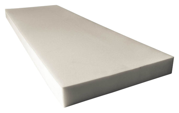 "UPHOLSTERY FOAM PROFESSIONAL UPHOLSTERY FOAM 4"" THICK, 18"" WIDE X 72"" LONG REGULAR DENSITY"