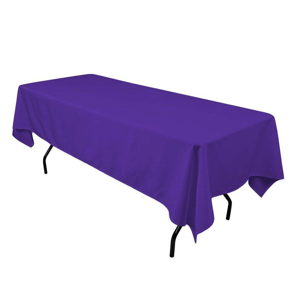 "Rectangle Tablecloth - 60 x 102"" Inch - Purple Rectangular Table Cloth for 6 Foot Table in Washable Polyester - Great for Buffet Table, Parties, Holiday Dinner, Wedding & More"