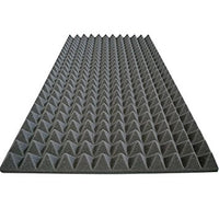 "Acoustic Foam Sound Absorption Pyramid Studio Treatment Panel 48""X24""X2"""