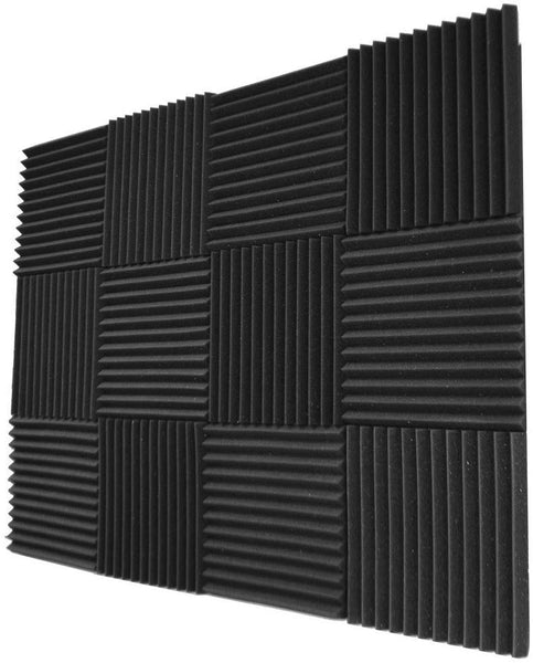 "Acoustic Panels Studio Foam Wedges 1"" X 12"" X 12"" ( 12 Pack ) Charcoal"
