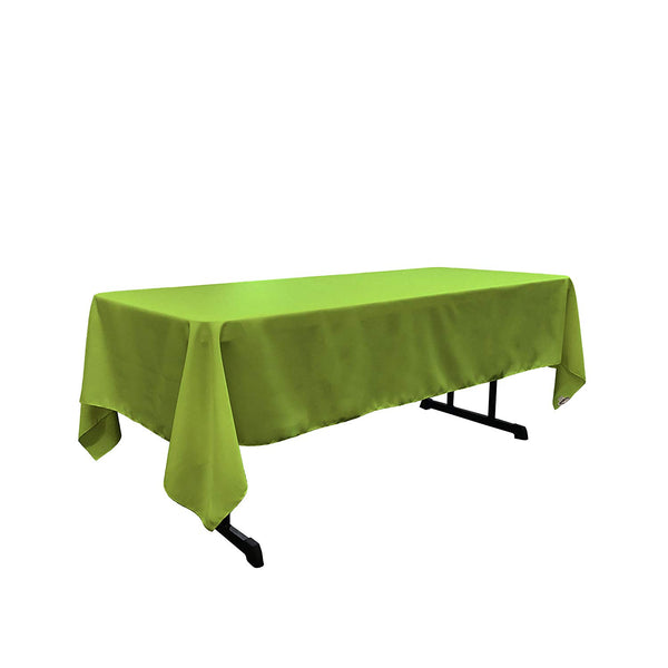 "Polyester Poplin Rectangular Tablecloth, 58"" x 108"" Choose Color Below"