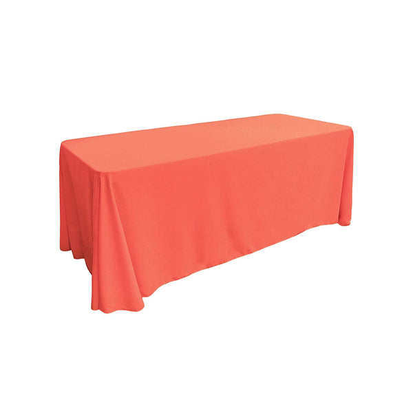 "Polyester Poplin Rectangular Tablecloth, 90"" x 156"", Choose Color Below"