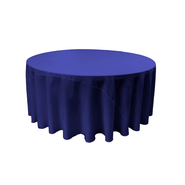 "Tablecloth 132"" Inch Round Polyester Poplin Round Tablecloth, 132-Inch Choose Color Below"