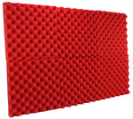 "Red Acoustic Panels Studio Foam Egg Crate 2"" X 12"" X 12"" ( 6 Pack )"
