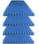"Acoustic Foam Egg Crate Panel Studio Foam Wall Panel 48"" X 24"" X 2.5"" (4 Pack) Blue"