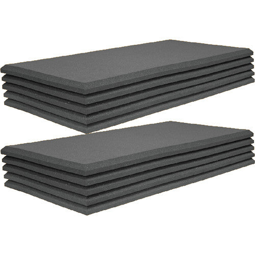 Bevel-style Acoustic Foam Soundproofing Panels 2'' X 24'' X 48''(10 Pcs) For Recording Studios