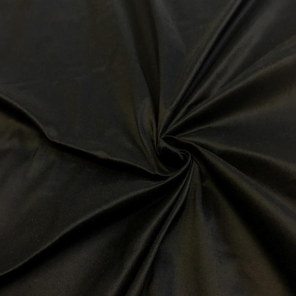 "100% Pure Silk Shantung Fabric 54""Wide BTY Drape Blouse Dress Craft Sold By The Yard.Black"