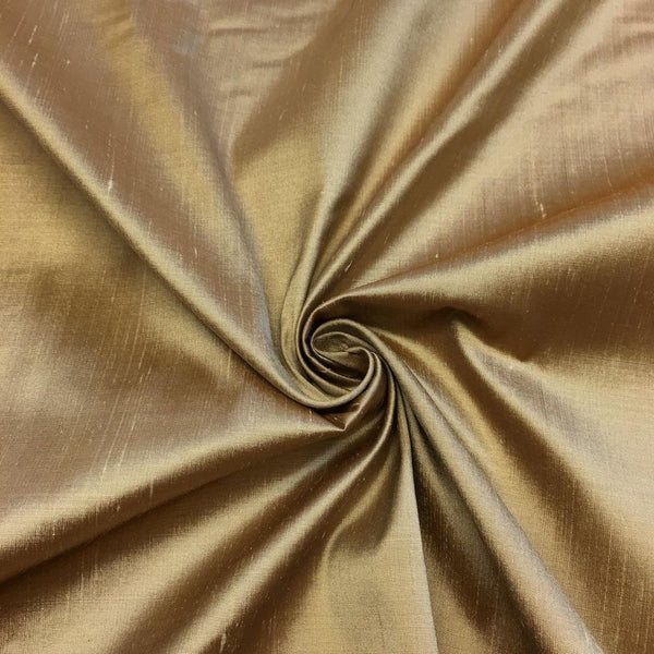 "100% Pure Silk Shantung Fabric 54""Wide BTY Drape Blouse Dress Craft Sold By The Yard. Champagne"