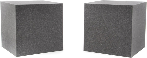 "Acoustic Foam 12"" Block 12""x12""x12"" - 2-Pack Charcoal"