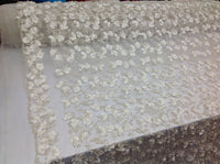 IVORY Beaded Fabric Diamonds with Pearl Fabric Wedding Dress Bridal Veil Fabric-Embroidered Flower Lace By The Yard