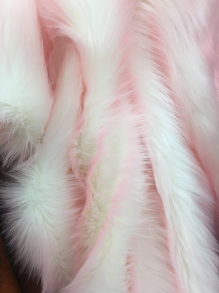Frozen Shag Faux Fake Fur Long Pile Fabric / Pink / Sold By The Yard