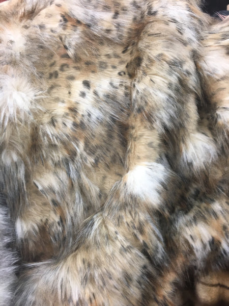 Faux Fake Fur Animal Coat Costume Fabric / Top Exotic Designs / Sold By The Yard
