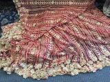 Beaded Fabric - Burgundy Embroidered Lace Beads By The Yard For Bridal Veil Mesh Dress Top Wedding Decoration