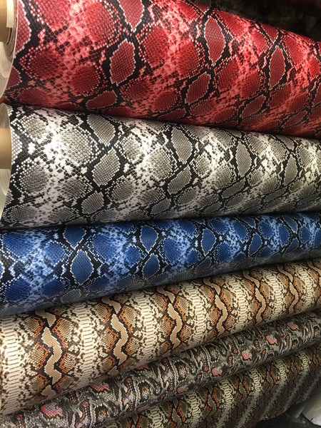 "King Snake Design Heavy Vinyl Non Stretch 58/60"" Sold by the Yard. Choose Color Below."