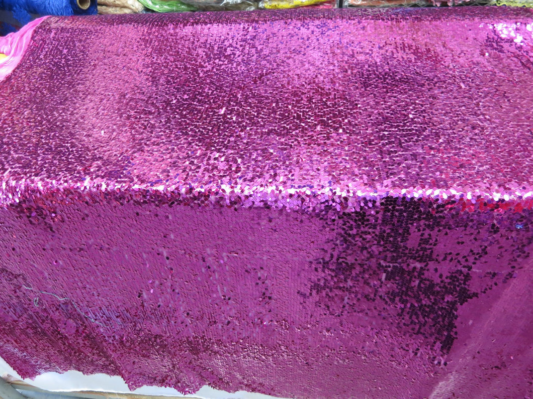 Drop Sequin Fabric / Fuchsia / Sold By The Yard