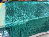 Drop Sequin Fabric / Hunter Green / Sold By The Yard