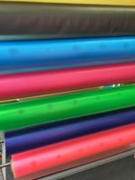 10 Gauge Tinted Transparent Plastic Vinyl Tinted 45 Inch Wide Fabric By the Yard. Choose Color Below.